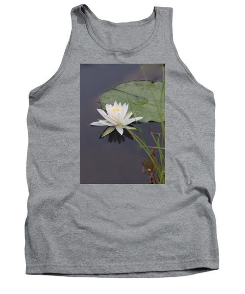 Tank Top featuring the photograph White Water Lotus by Debra     Vatalaro