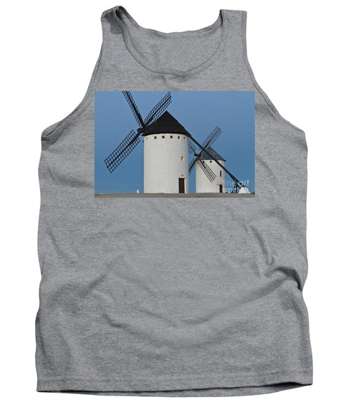 Tank Top featuring the photograph White Windmills by Heiko Koehrer-Wagner