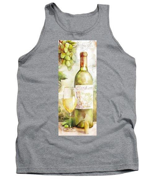 White Wine Watercolor Tank Top