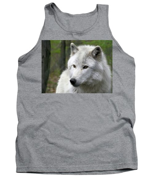 White Wolf With Golden Eyes Tank Top