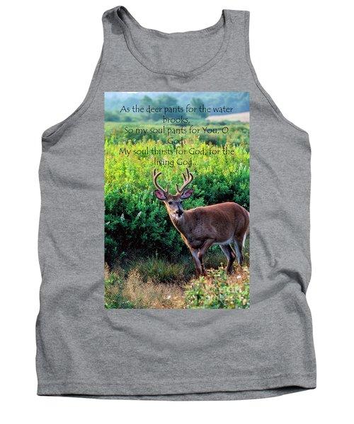 Whitetail Deer Panting Tank Top
