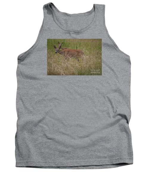 Whitetail With Fawn 20120707_09a Tank Top by Tina Hopkins