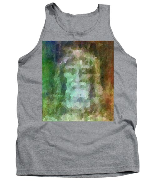 Who Do Men Say That I Am - The Shroud Tank Top by Glenn McCarthy Art and Photography