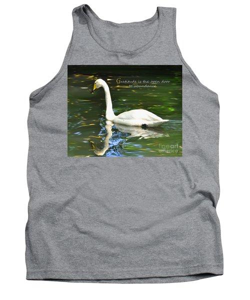 Whooper Swan Gratitude Tank Top