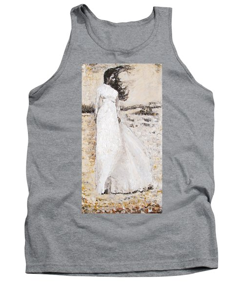 Tank Top featuring the painting Out On The Wiley Windy Moors by Jarko Aka Lui Grande