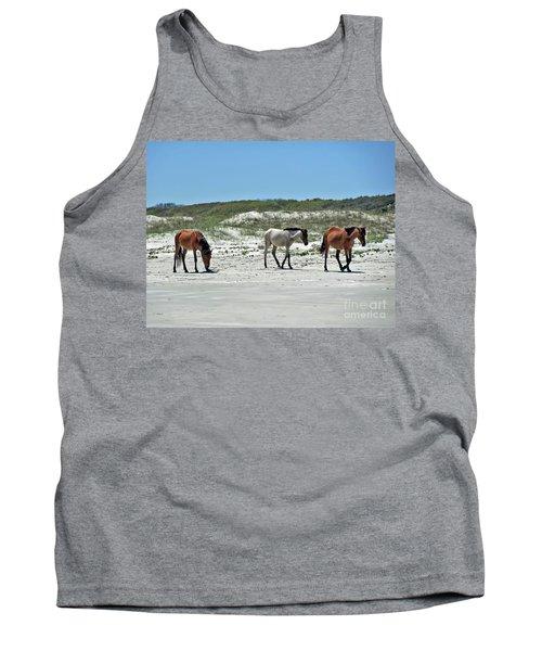 Wild Horses On The Beach Tank Top