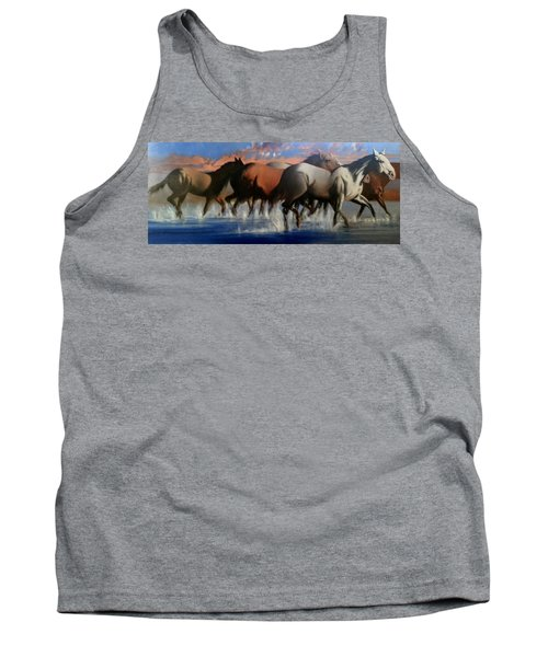 Wild Mustangs Of The Verder River Tank Top