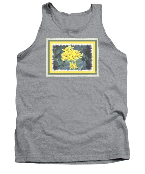 Wild Yellow Weed Tank Top by Shirley Moravec