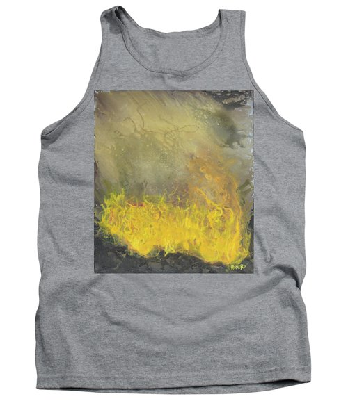 Tank Top featuring the painting Wildfire by Antonio Romero