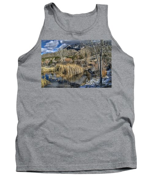 Tank Top featuring the photograph Wildlife Water Hole by Alan Toepfer