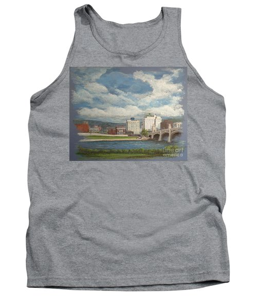 Wilkes-barre And River Tank Top by Christina Verdgeline