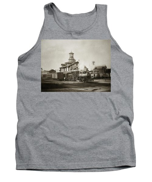Wilkes Barre Pa. New Jersey Central Train Station Early 1900's Tank Top