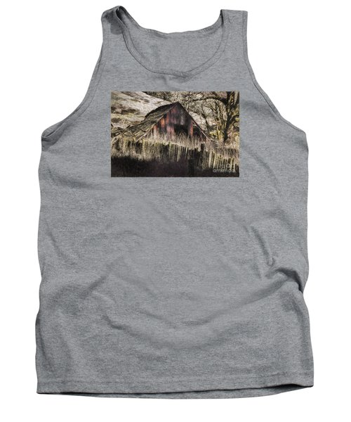 Tank Top featuring the photograph Willets Barn by Shirley Mangini