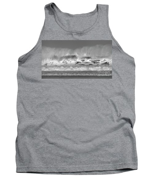 Tank Top featuring the photograph Wind Blown Waves by Nicholas Burningham