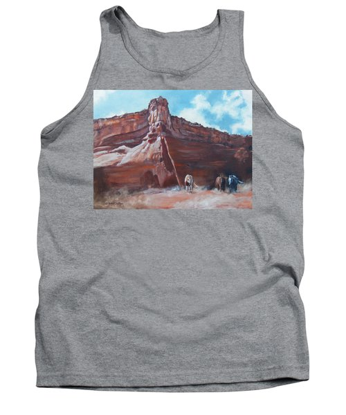 Tank Top featuring the painting Wind Horse Canyon by Karen Kennedy Chatham
