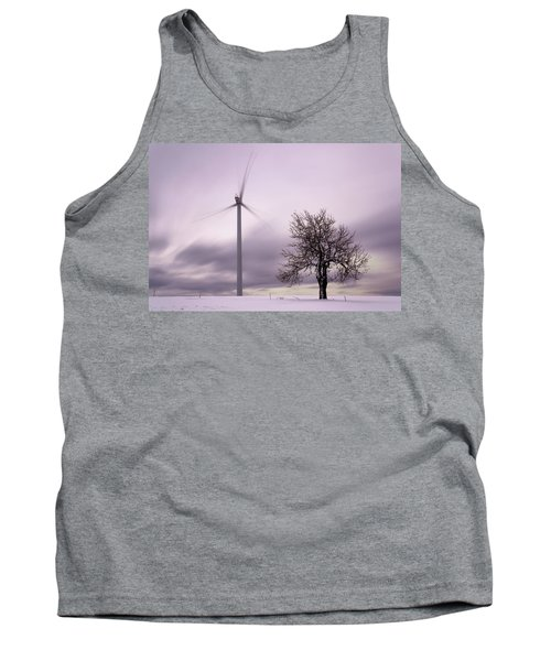Wind Power Station, Ore Mountains, Czech Republic Tank Top