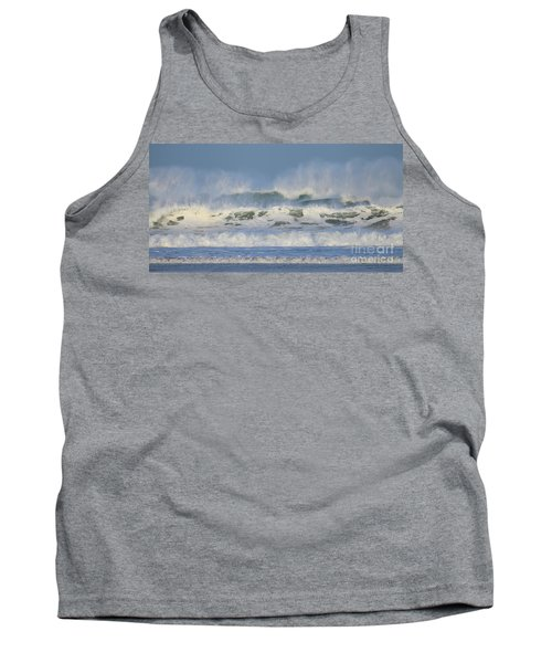 Tank Top featuring the photograph Wind Swept Waves by Nicholas Burningham