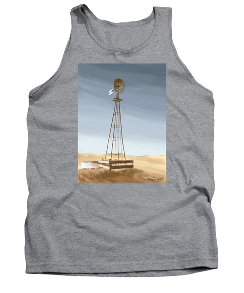 Tank Top featuring the painting Windmill by Terry Frederick