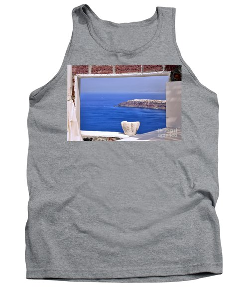 Window View To The Mediterranean Tank Top by Madeline Ellis