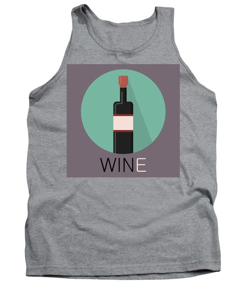Wine Poster Print - Win And Wine Tank Top