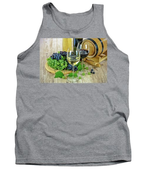Tank Top featuring the painting Wine Tasting by Harry Warrick