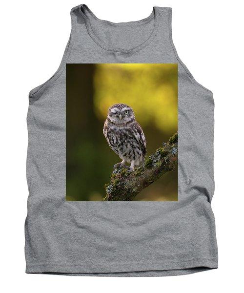 Winking Little Owl Tank Top