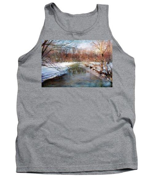 Winter At Cooper River Tank Top