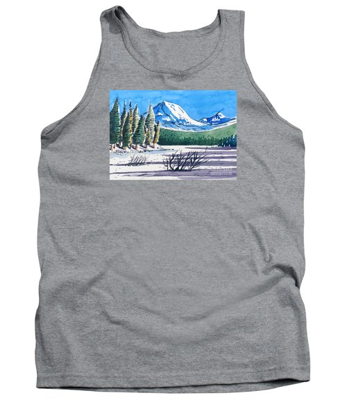 Tank Top featuring the painting Winter At Mt. Lassen by Terry Banderas