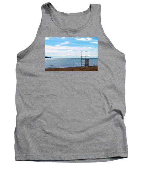 Tank Top featuring the photograph Winter Beach by Valentino Visentini