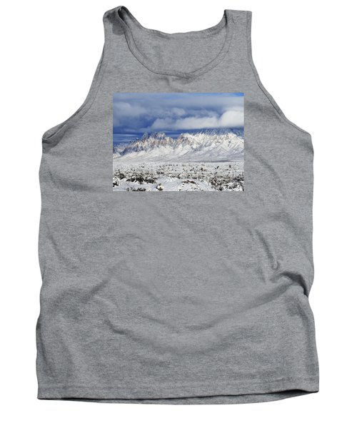 Tank Top featuring the photograph Winter Beauties Organ Mountains by Kurt Van Wagner