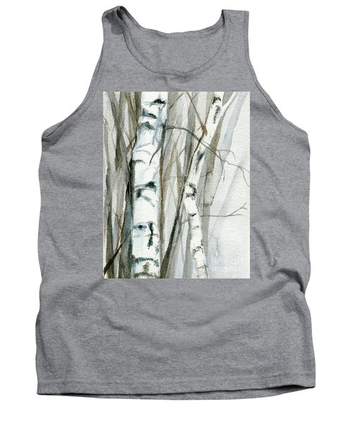 Tank Top featuring the painting Winter Birch by Laurie Rohner