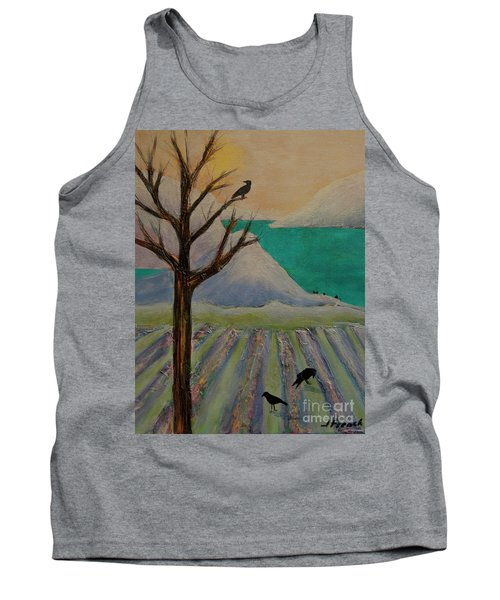 Winter Crows Tank Top by Jeanette French