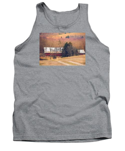 Tank Top featuring the photograph Winter Day At The Farm by Debbie Karnes
