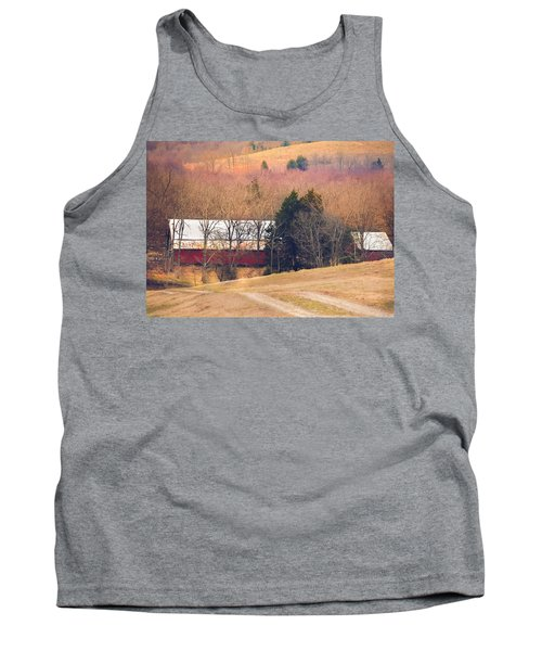Winter Day On A Tennessee Farm Tank Top by Debbie Karnes