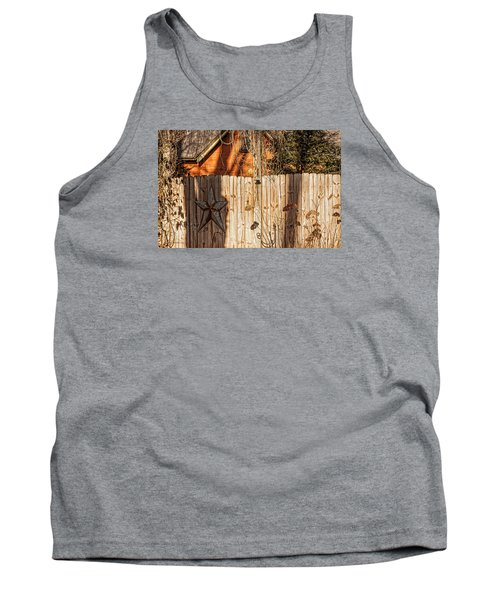 Tank Top featuring the photograph Winter Fence by Trey Foerster