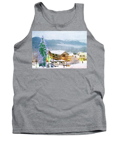 Winter Holiday In The Village Tank Top