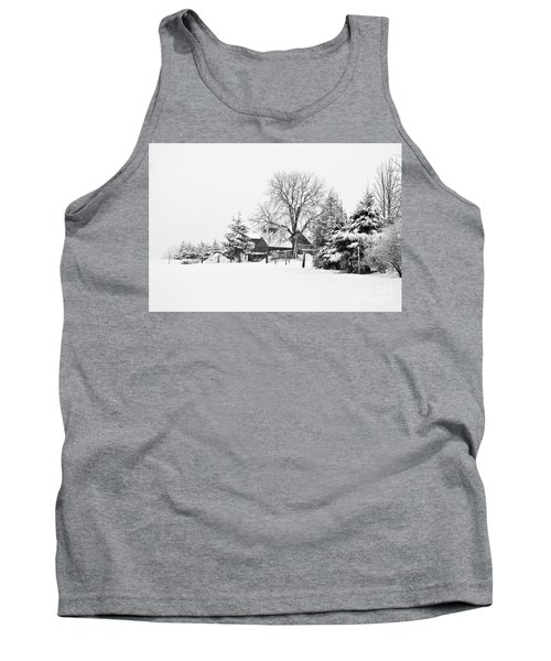 Winter In Black And White Fleckl, Germany 2 Tank Top