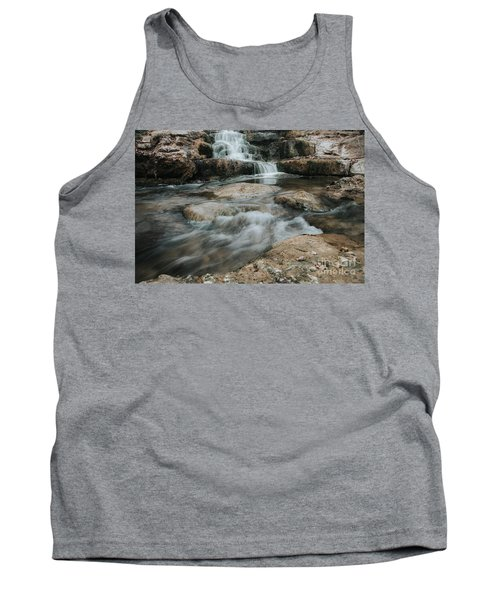 Tank Top featuring the photograph Winter Inthe Falls by Iris Greenwell