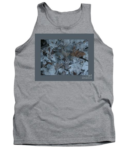 Tank Top featuring the photograph Winter Leaf Abstract-v by Patricia Overmoyer