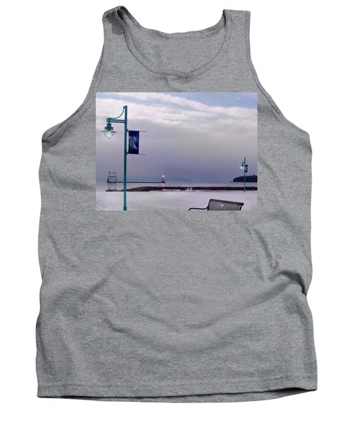 Winter Lights To Rock Point - Derivative Of Evening Sentries At The Coast Guard Station Tank Top