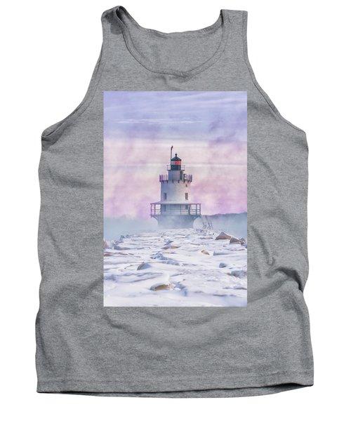 Winter Morning At Spring Point Ledge Tank Top