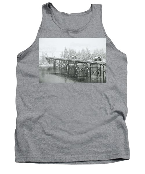 Winter Morning In The Pier Tank Top