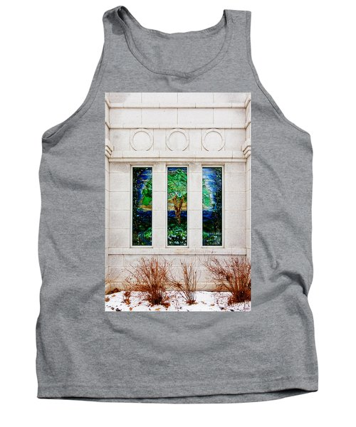 Winter Quarters Temple Tree Of Life Stained Glass Window Details Tank Top