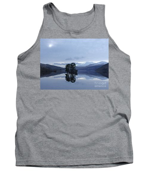 Tank Top featuring the photograph Winter Reflections - Loch Tay by Phil Banks