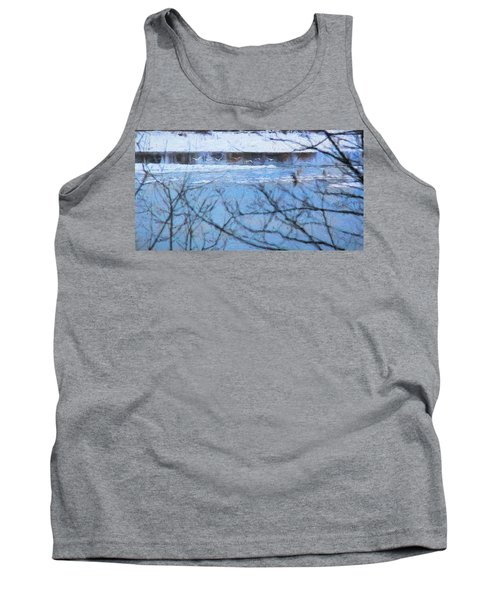 Tank Top featuring the photograph Winter River by Kathy Bassett