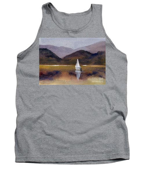 Winter Sailing At Our Island Tank Top