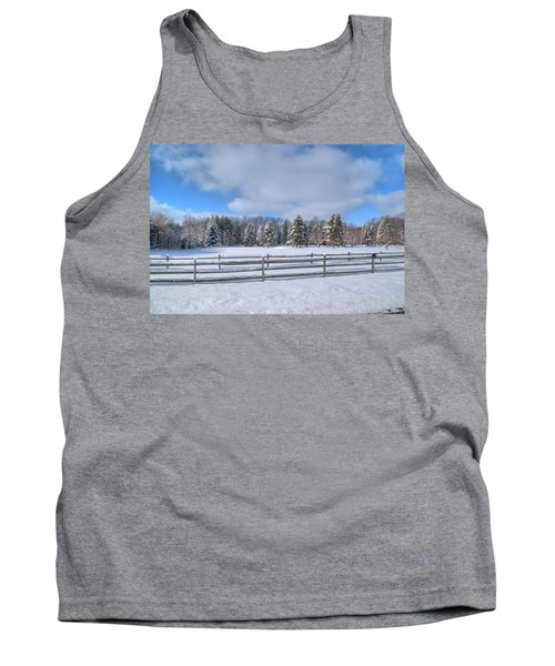 Tank Top featuring the photograph Winter Scenery 14589 by Guy Whiteley