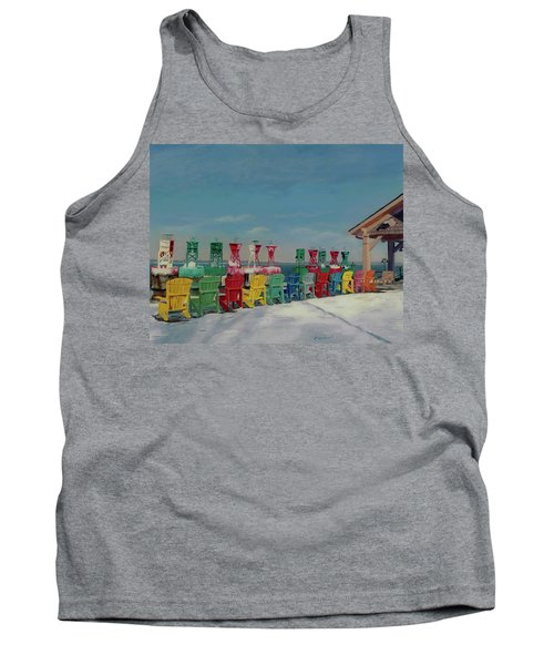 Tank Top featuring the painting Winter Sentries by Lynne Reichhart