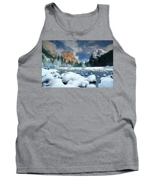 Tank Top featuring the photograph Winter Storm In Yosemite National Park by Dave Welling