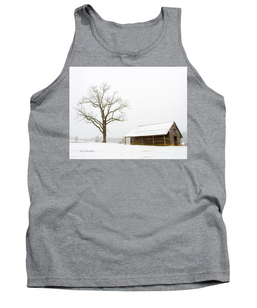 Winter Storm On The Farm Tank Top by George Randy Bass